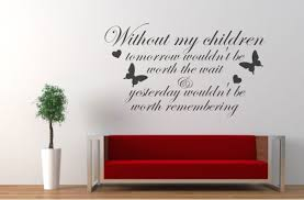 wall decals stickers home decor home furniture diy without my children wall art vinyl decal sticker
