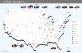 toyota usa news map of toyota operations in the usa warrenton toyota blog