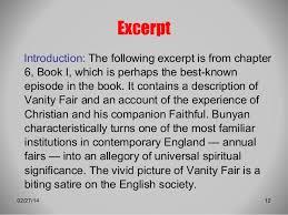 Vanity Fair Chapter Summaries The Pilgrim U0027s Progress