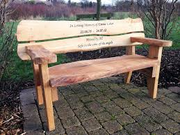 memorial bench hull s memorial bench crafts bench rustic