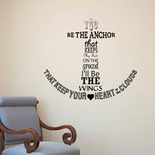 nautical anchor wall decal quote you be the anchor that keeps details nautical anchor wall decal