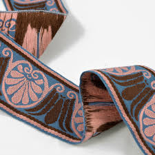ribbon by the yard 1 7 8 heavy jacquard ribbon trim by yard sp 2332