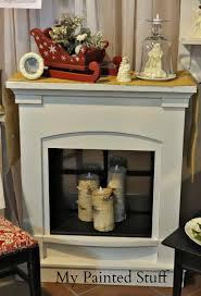 my painted stuff shabby fireplace