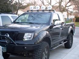 light blue nissan roof light bar and 4 hella ff1000 u0027s installed nissan frontier forum