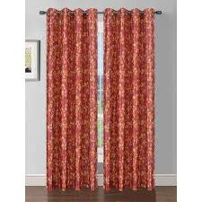 Red Orange Curtains Bella Luna Curtains U0026 Drapes Window Treatments The Home Depot
