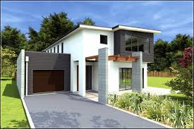 Flat Roof Modern House Best Ideas About Small Modern House Plans Picture With Astounding