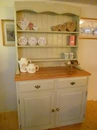 shabby chic bookcase shelves cream dresser display wall unit
