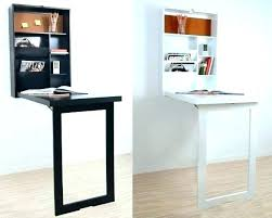 Small Fold Up Desk Wall Mounted Fold Up Desk A Small Folding Desk With Bookshelves