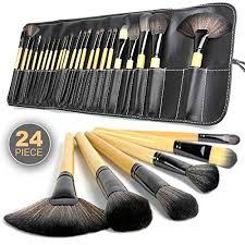 professional makeup tools zafos 24pcs professional makeup brushes kit black wood make up