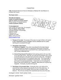 consent form sample psychology templates fillable u0026 printable