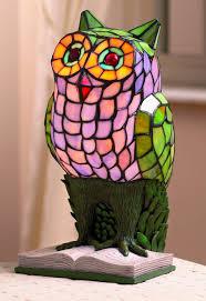 Tiffany Table Lamps Large Owl Animal Tiffany Table Lamp Amazon Co Uk Lighting