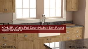 Faucets For Kitchen Sinks by Installation Worth Pull Down Kitchen Sink Faucet Youtube
