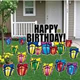 Birthday Lawn Decorations Amazon Com Happy Birthday Yard Signs Happy Birthday Gold