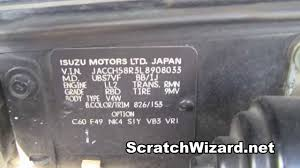 how to find your isuzu paint code youtube
