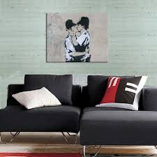 home decor prints aliexpress com buy free shipping canvas home decor art banksy