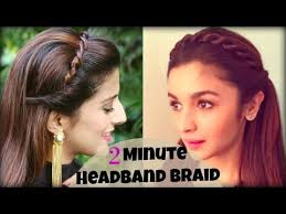 easy indian hairstyles for school cute easy 2 min everyday headband braid for school college work