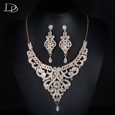 rose zircon necklace images 585 rose gold color choker bridal jewelry sets bohemia aaa zircon jpg