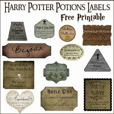 Printable Labels Harry Potter Potion Label Printables