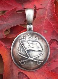Confederate Flag Jewelry Sterling Silver Confederate Jeb Stuart Cavalry Button Civil