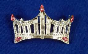 rhinestone crown pin an instant pageant classic pink