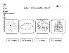 Kindergarten Weather Worksheets Ingles Para Niños Fichas Classroom