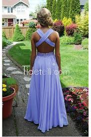 pastel yellow a line chiffon long prom dress with beaded criss