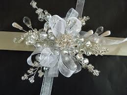 corsage wristlets snowflake wrist corsage winter wrist corsage bridesmaids wrist