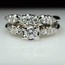vintage art deco diamond bridal set engagement ring u0026 matching