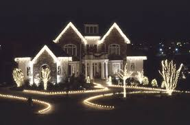 fancy ideas how to hang lights outside house on trees