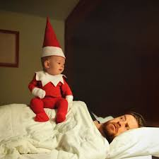 creative daddy turns 4 month old son into his own elf on the shelf