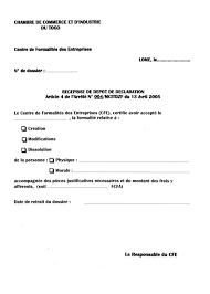 Cfe Centre De Formalités Des Entreprises Chambre D Eregulations Togo