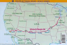 Old Route 66 Map by Road Atlas Of Route 66 Usa Maps Company