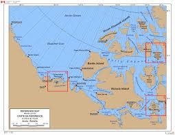 Arctic Ocean Map Western Arctic Map Of Place Names Canada Ca