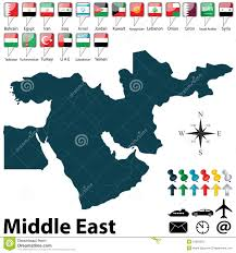 Political Map Of The Middle East by Political Map Of Middle East Royalty Free Stock Photo Image