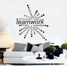 vinyl wall decal teamwork words office decor business stickers