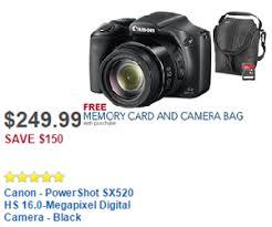 best canon camera deals on black friday canon powershot sx520 hs 16 0 megapixel digital camera black