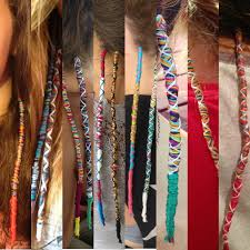 hippie hair wrap i remember doing these when my and i were younger i m