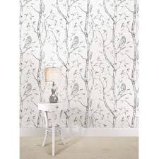 Peal And Stick Wall Paper Nuwallpaper Gray Woods Peel And Stick Wallpaper Walmart Com