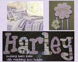 Barn Wood Letters Katie Polka Dot Hand Painted Wall Letters