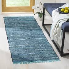 Woven Cotton Area Rugs Beachcrest Home Inkom Woven Cotton Blue Area Rug Reviews