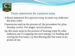 process essay thesis statement nelwati mn fakultas keperawatan chronological order processes