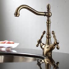 Traditional Kitchen Mixer Taps - traditional georgian style antique bronze brass kitchen sink mixer