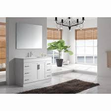 40 Bathroom Vanities 40 Inch Milk White American Style Solid Wood Single Sink Bathroom