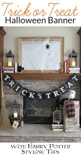 Pottery Barn Halloween Decorations No Sew Burlap Trick Or Treat Halloween Banner With Harry Potter