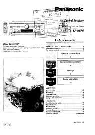 panasonic sa he90 user manual pdf download