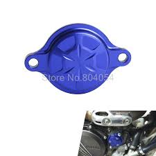 aliexpress com buy blue cnc billet oil filter cover for yamaha