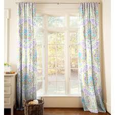 aqua and purple jasmine drape panel carousel designs