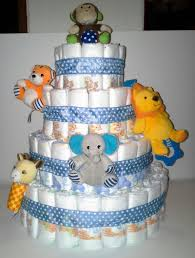 light blue zoo animals themed baby by readymadediapercakes on zibbet