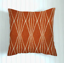 burnt orange pillow cover decorator pillow throw pillow pillow