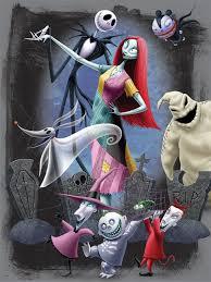 nightmare before christmas halloweentown party nightmare before christmas jigsaw puzzle